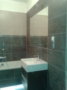 Gotowa łazienka, zdjęcie robocze / Kafelkarz Gdańsk